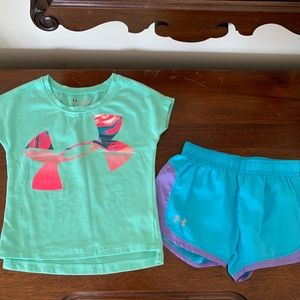 Under Amour toddler 4T top and shorts